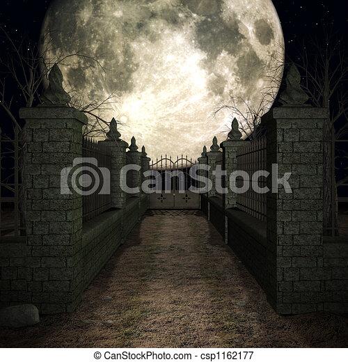 mystisk, kyrkogård - csp1162177