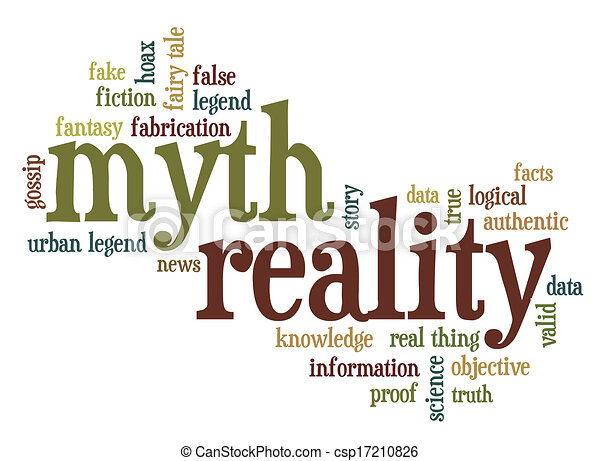 myth and reality word cloud - csp17210826