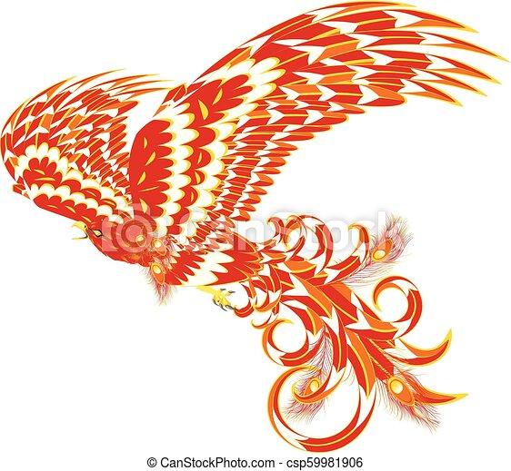 Mythical Phoenix Bird - csp59981906