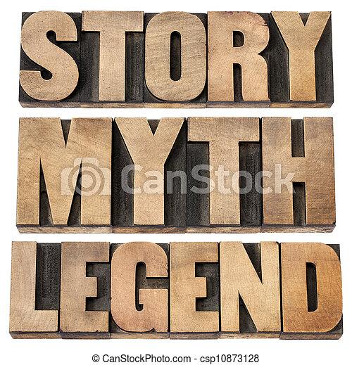 mythos, legende, geschichte - csp10873128