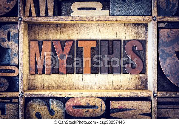 Myths Concept Letterpress Type - csp33257446