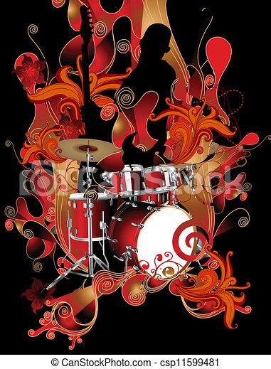 námět, hudba - csp11599481