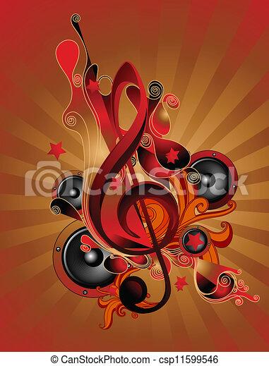 námět, hudba - csp11599546