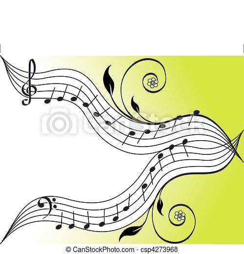 námět, hudba - csp4273968