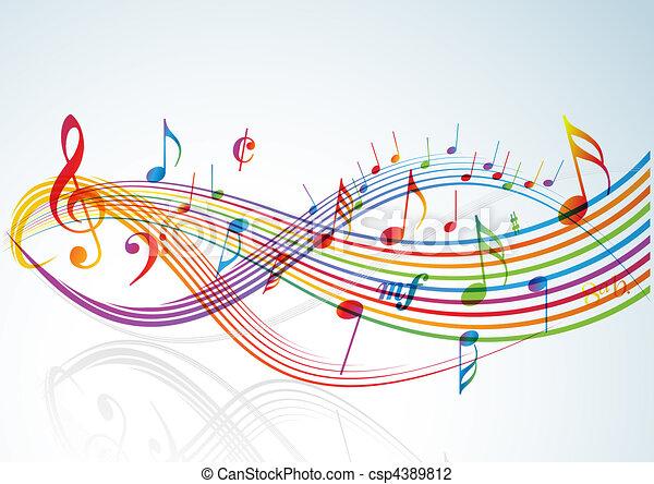 námět, hudba - csp4389812
