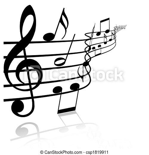 námět, hudba - csp1819911