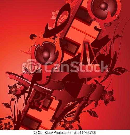 námět, hudba - csp11088756