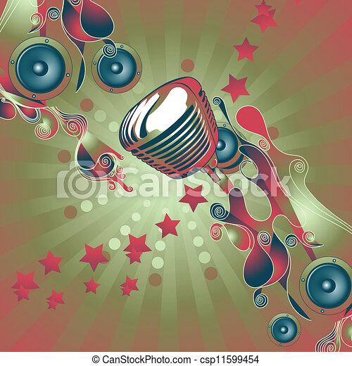 námět, hudba - csp11599454
