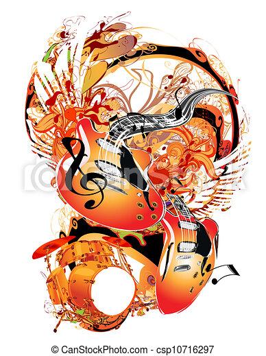 námět, hudba - csp10716297