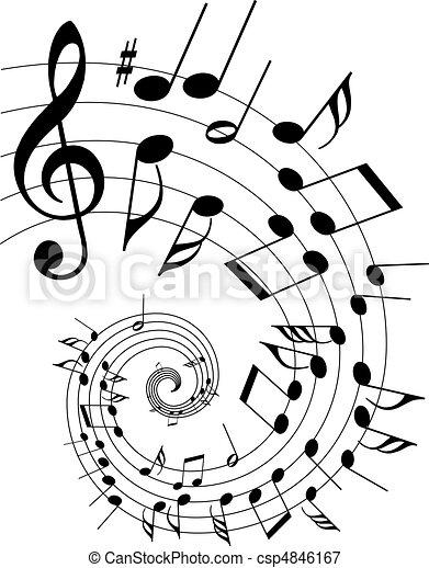 námět, hudba - csp4846167