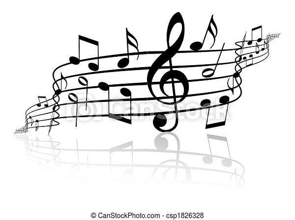 námět, hudba - csp1826328