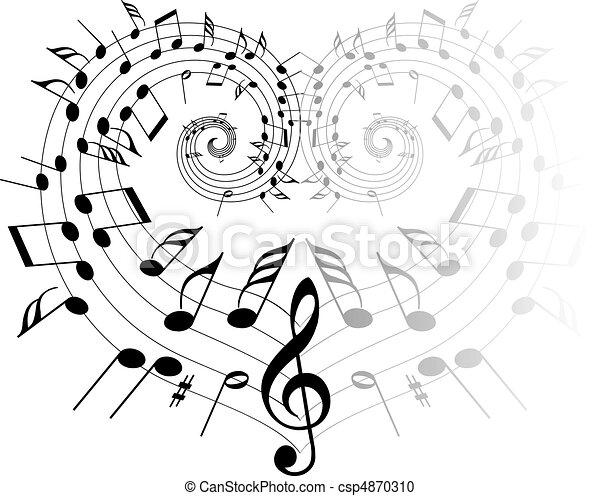 námět, hudba - csp4870310