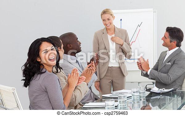 národ, aplaus, business věnování - csp2759463