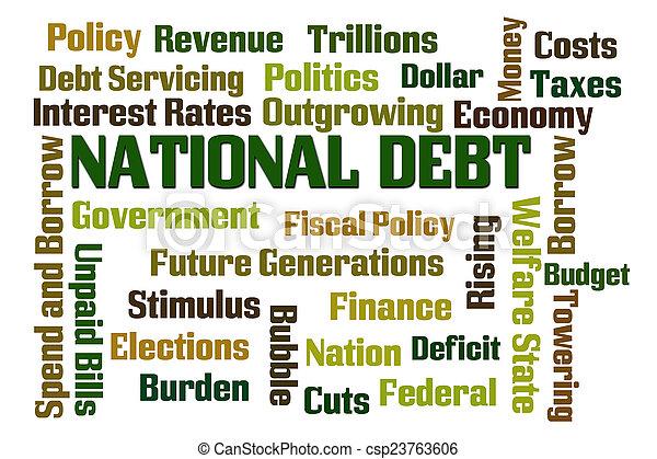 národnostní, dluh - csp23763606
