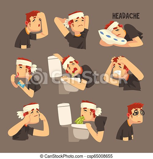 Náuseas vómitos dolor de cabeza