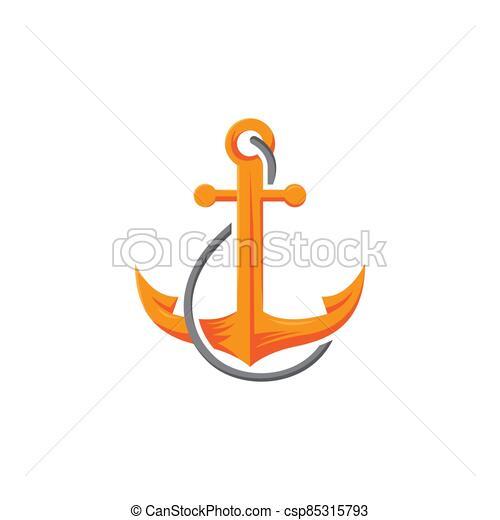 náutico, vaya barco, marina, mar, soga, barco, ancla, logotipo - csp85315793