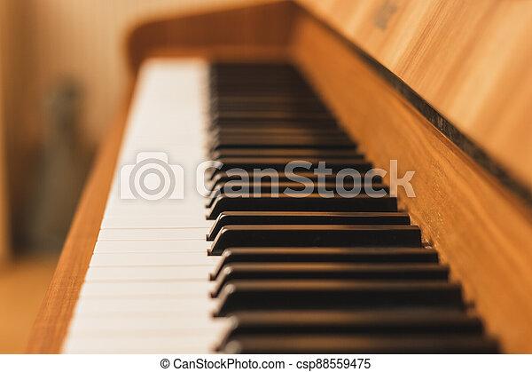 názor, uzavřít, klˇźe, -, up, klavír - csp88559475