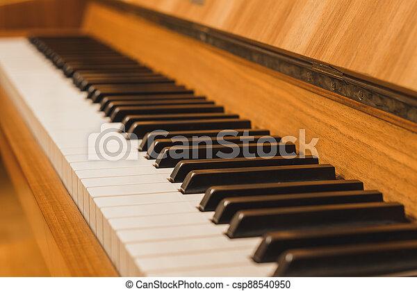 názor, uzavřít, klˇźe, -, up, klavír - csp88540950