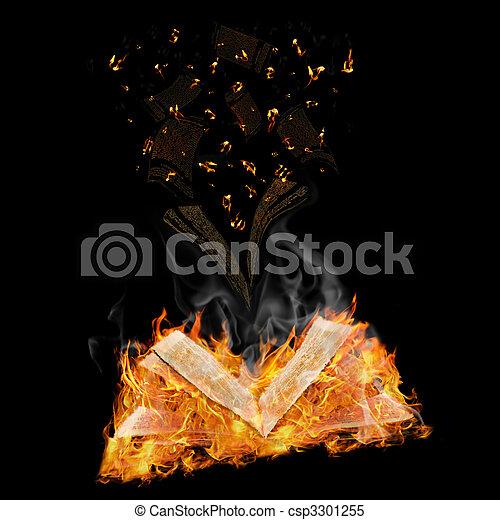 não, queimadura, manuscritos - csp3301255