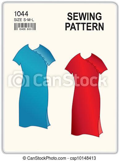 Nähen muster, kleidet. Mode, organisiert, zwei, dein, frauen, raum ...