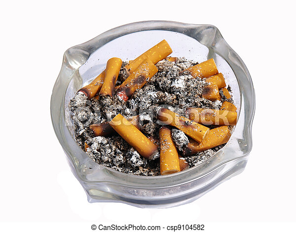 nära, cigarretter, uppe, askkopp - csp9104582