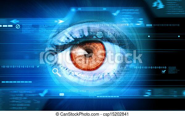 närbild, ögon, mänsklig - csp15202841