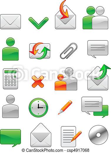 nät, ämbete ikon - csp4917068