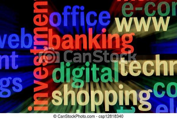 nät, bankrörelse - csp12818340
