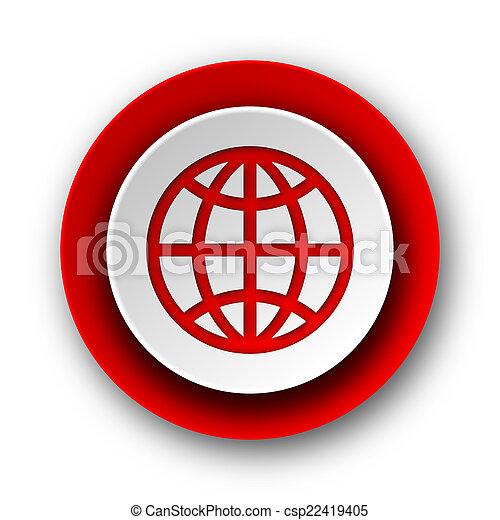 nät, nymodig, bakgrund, mull, vit röd, ikon - csp22419405