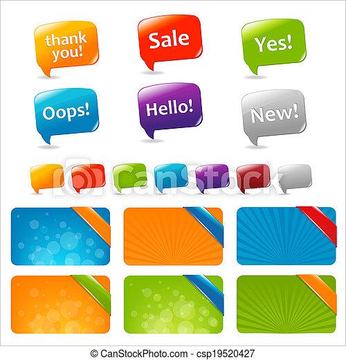 nät, rutor, anförande, bubblar, text - csp19520427