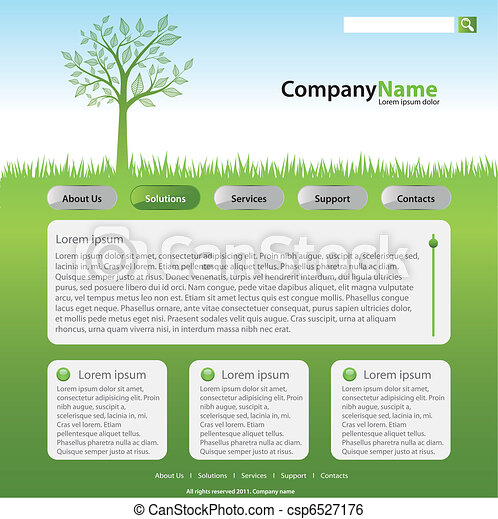 nät, träd, äng, plats - csp6527176
