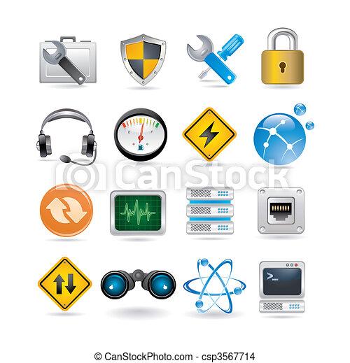 nätverk, ikonen - csp3567714