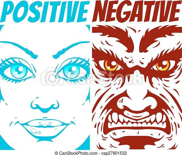 négatif, positif - csp27901532