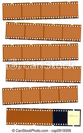 négative photographique, bande film - csp0919356