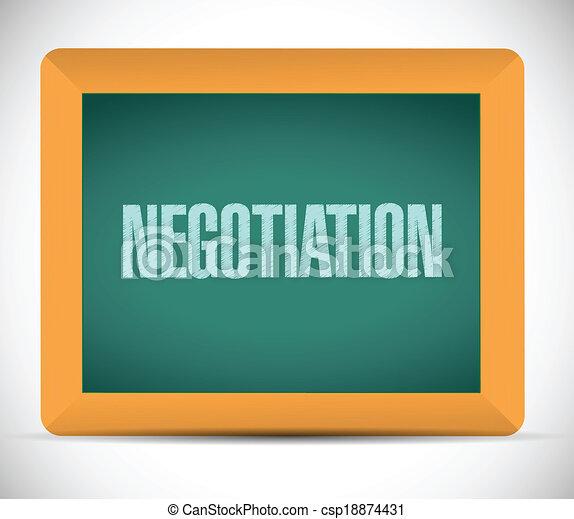 négociation, conseil message, illustration - csp18874431