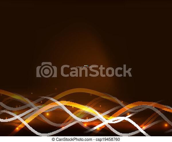 néon, incandescent, lignes, résumé, fond - csp19458760