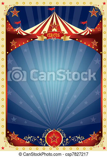 nöje, affisch, cirkus - csp7827217