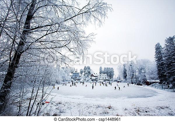 nöje, vinter - csp1448961