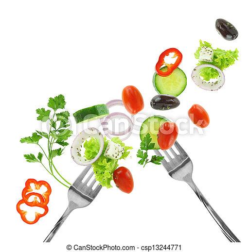 növényi, elszigetelt, ezüst, kevert, friss, fehér, szétágazik - csp13244771