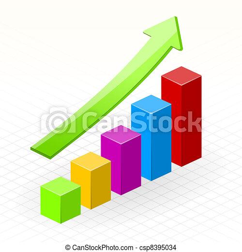 növekedés, ügy, siker, diagram - csp8395034