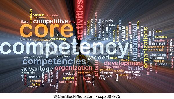Palabra de competencia core que brilla - csp2807975