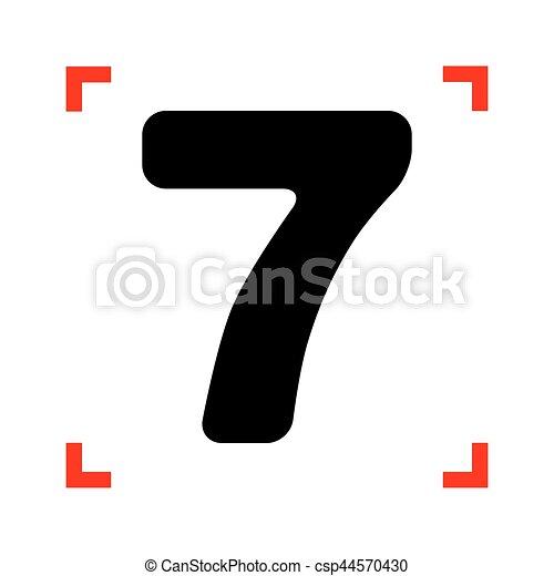 Numero Modelo Corne Foco Sinal Desenho 7 Pretas Element