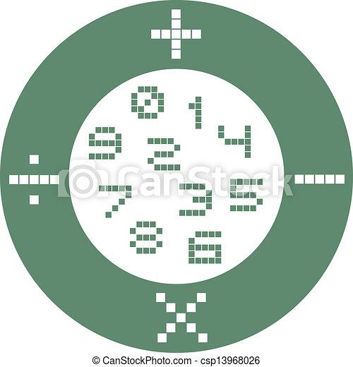 números, matemática - csp13968026