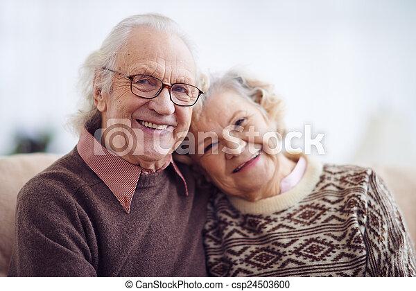 nő, öregedő bábu - csp24503600