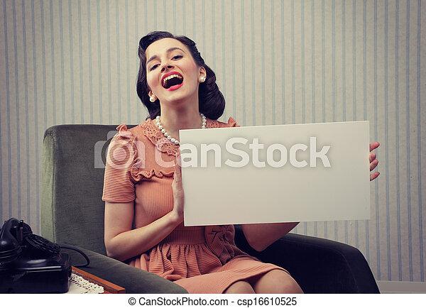 nő, boldog - csp16610525