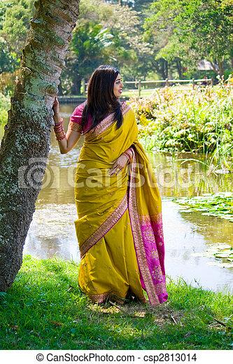 nő, indiai - csp2813014