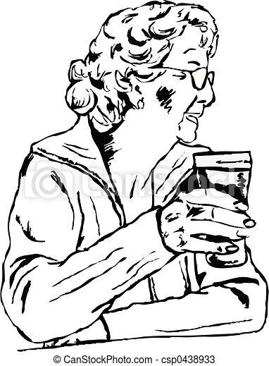 nő, pint - csp0438933