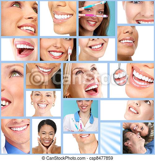 nő, smile., boldog - csp8477859