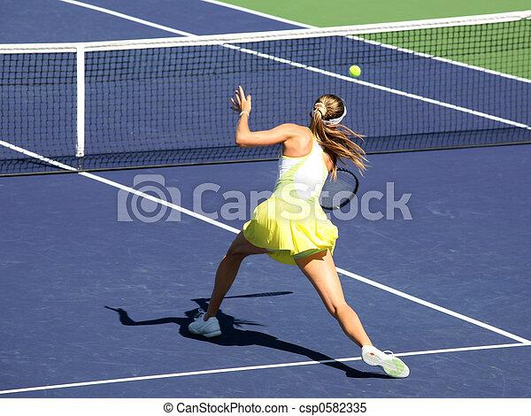 nő, tenisz - csp0582335