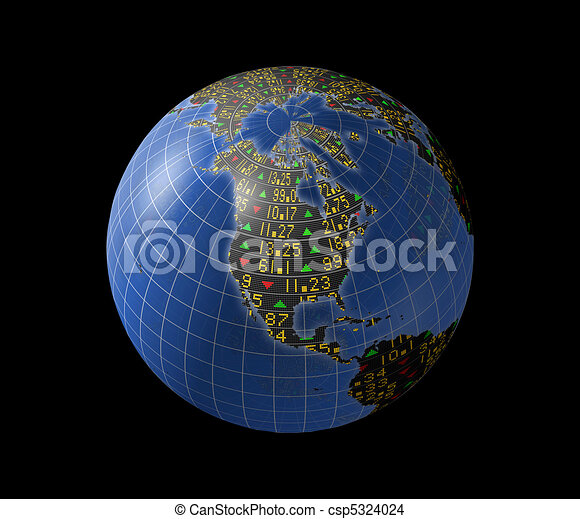 N American economy as stock market - csp5324024